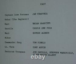 Shakedown Sontaran original script Doctor Who 1994 vintage original Dr Who Movie