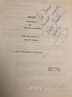 Signed Original Movie Script Cruising By William Friedkin staring Al Pacino