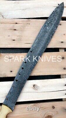 Spark Custom Handmade Book Of Eli Machete Damascus Steel Movie Sword