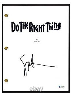 Spike Lee Signed Autograph DO THE RIGHT THING Movie Script Beckett BAS COA