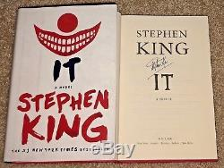 Stephen King Signed It Hardcover Book Author Movie Pennywise New 2017