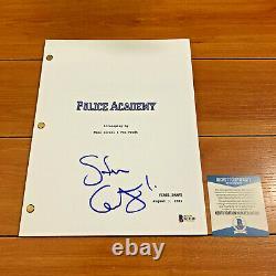 Steve Guttenberg Signed Police Academy Full Page Movie Script Beckett Bas Coa