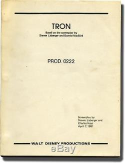 Steven Lisberger TRON Original screenplay for the 1982 film 1981 #142297