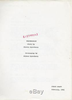 Steven Spielberg POLTERGEIST Original screenplay for the 1982 film 1981 #138630