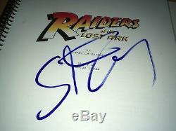 Steven Spielberg Raiders of the Lost Ark Signed Movie Script JSA Full Letter