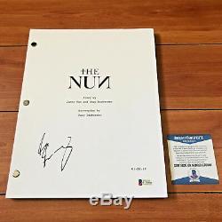 TAISSA FARMIGA SIGNED THE NUN FULL 97 PAGE MOVIE SCRIPT with BECKETT BAS COA