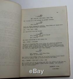 TARGET EARTH / William Raynor 1954 Movie Script Screenplay, Robots from Venus