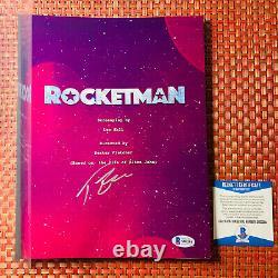 TARON EGERTON SIGNED ROCKETMAN FULL 89 PAGE MOVIE SCRIPT with BECKETT BAS COA