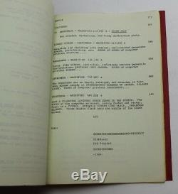 THE ANDROMEDA STRAIN / Nelson Gidding 1979 Original Movie Script Screenplay