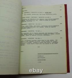 THE ANDROMEDA STRAIN / Nelson Gidding 1979 Original Movie Script Screenplay
