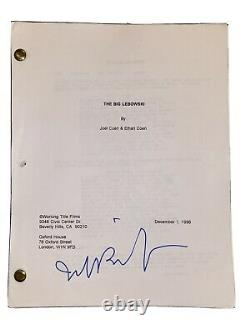 THE BIG LEBOWSKI SIGNED MOVIE SCRIPT The Dude JEFF BRIDGES 1997 Rare