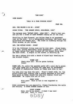 THE DIRT MOTLEY CRUE BIOPIC MOVIE early draft screenplay