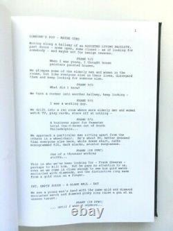 THE IRISHMAN Movie Hand Signed MARTIN SORSESE & STEVEN ZAILLIAN Script FYC Promo