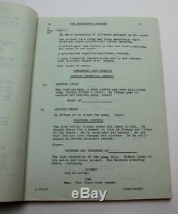 THE PRESIDENT'S ANALYST / Theodore J. Flicker 1967 Movie Script satirical Sci Fi