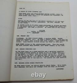 THE RUNNING MAN, Steven E de Souza 1985 SciFi Movie Script Arnold Schwarzenegger