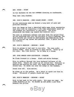 THE TRAP very rare UNPRODUCED MOVIE screenplay by HARMONY KORINE