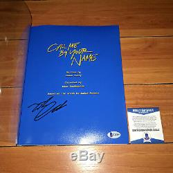 TIMOTHEE CHALAMET SIGNED CALL ME BY YOUR NAME FULL MOVIE SCRIPT with BECKETT COA