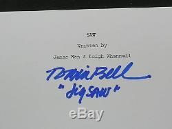 TOBIN BELL Signed SAW Movie SCRIPT Autograph Jigsaw RARE BECKETT BAS COA