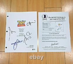 TOY STORY SIGNED FULL PAGE MOVIE SCRIPT BY 3 CAST with BECKETT BAS COA TIM ALLEN