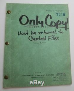 TREACHERY / Herman J. Mankiewicz 1948 Unmade Movie Script writer of Citizen Kane