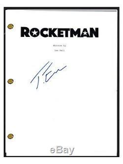 Taron Egerton Signed Autographed ROCKETMAN Movie Script Elton John COA