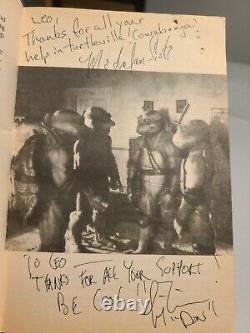 Teenage Mutant Ninja Turtles Movie CAST/CREW SIGNED Chapter Book +bts photo TMNT