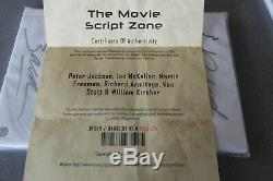 The Hobbit The Desolation Of Smaug Movie Script Coa Autographed 6 Signatures