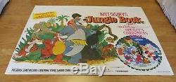 The Jungle Book Original 1983 Rr Uk Cinema Quad Film Poster Rare Rolled Disney