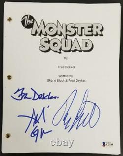 The Monster Squad Cast (3) signed Movie Script Autograph Dekker Gower BAS