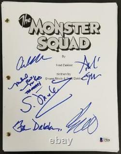 The Monster Squad Cast (6) signed Full Movie Script Autograph Dekker Gower BAS