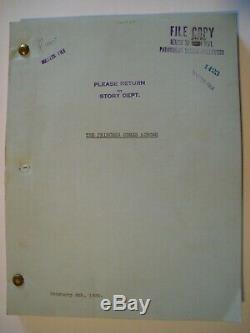 The PRINCESS COMES ACROSS orig. 1936 movie script / CAROLE LOMBARD