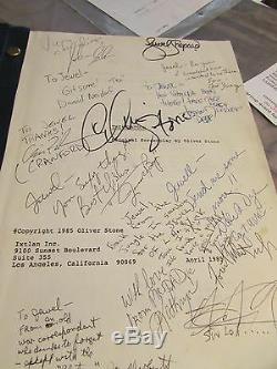 The Platoon Original Movie Script Signed 13x Depp Sheen Stone Whitaker Shephard
