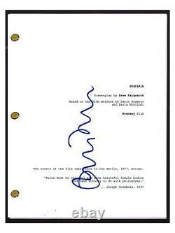 Tilda Swinton Signed Autographed SUSPIRIA Movie Script Screenplay COA