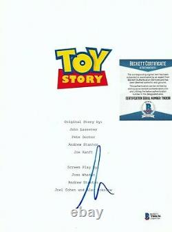 Tim Allen Signed Toy Story Full Movie 126 Page Script Autograph Beckett Bas Coa
