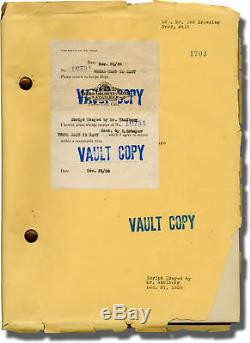 Tod Browning WHERE EAST IS EAST Original screenplay for the 1929 film #140436