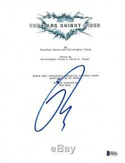 Tom Hardy Signed Autographed THE DARK KNIGHT RISES Movie Script Beckett BAS COA