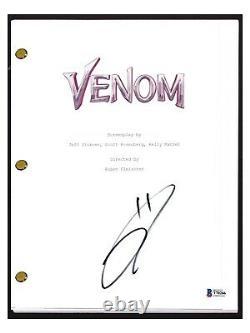 Tom Hardy Signed Autographed VENOM Movie Script Transcript Beckett BAS COA