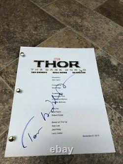 Tom Hiddleston Thor The Dark World Loki Signed Autographed Full Movie Script