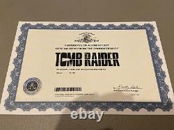 Tomb Raider Croft Employee Holding badge and sign in book set movie prop COA