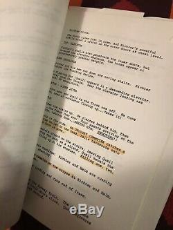 Total Recall 1990 Original Production Script (Gordon Smith, Film, Movie Prop)