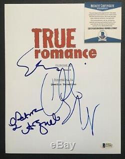 True Romance Signed Movie Script By Patricia Arquette & Christian Slater Oldman