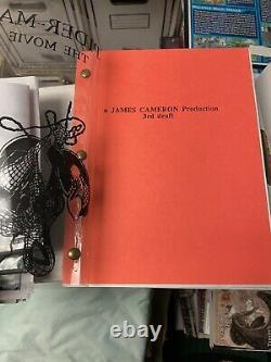UNRELEASED Spider-man James Cameron 3rd draft Movie Script! SUPER RARE! WOW