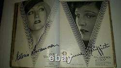 United Artists 1927-28 Exhibitor Book Hollywood Silent Movie Stars Chaplin RARE