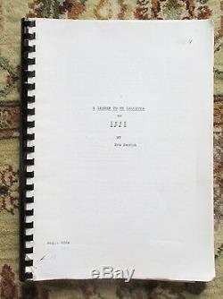 Unproduced Original FILM SCREENPLAY by EVA BARTOK, Child Bride of a Nazi Officer