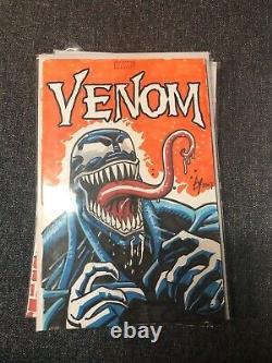 Venom Original Comic Book Sketch Cover By Ty Templeton Venom 2 Movie Marvel