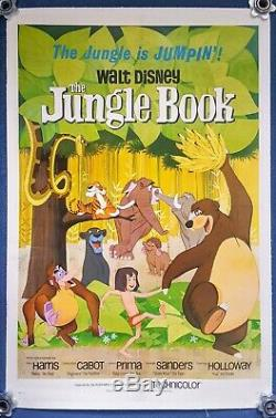 Walt Disney's THE JUNGLE BOOK US One Sheet (1967) original film poster backed