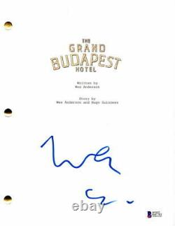 Wes Anderson Signed Autograph The Grand Budapest Hotel Full Movie Script
