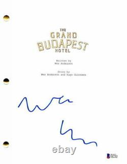 Wes Anderson Signed Autograph The Grand Budapest Hotel Full Movie Script Beckett