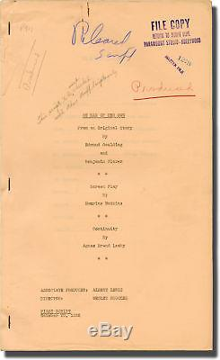 Wesley Ruggles NO MAN OF HER OWN Original screenplay for the 1932 film #130968