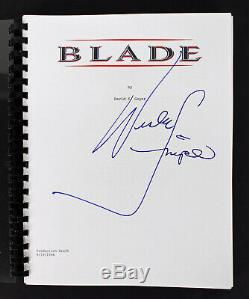 Wesley Snipes Authentic Signed Blade Movie Script Autographed PSA/DNA #X12713